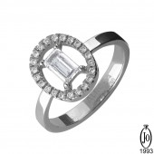 Кольцо из Платины с бриллиантами B3 Pt950