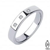 Кольцо из Платины с бриллиантами OB3 Pt950